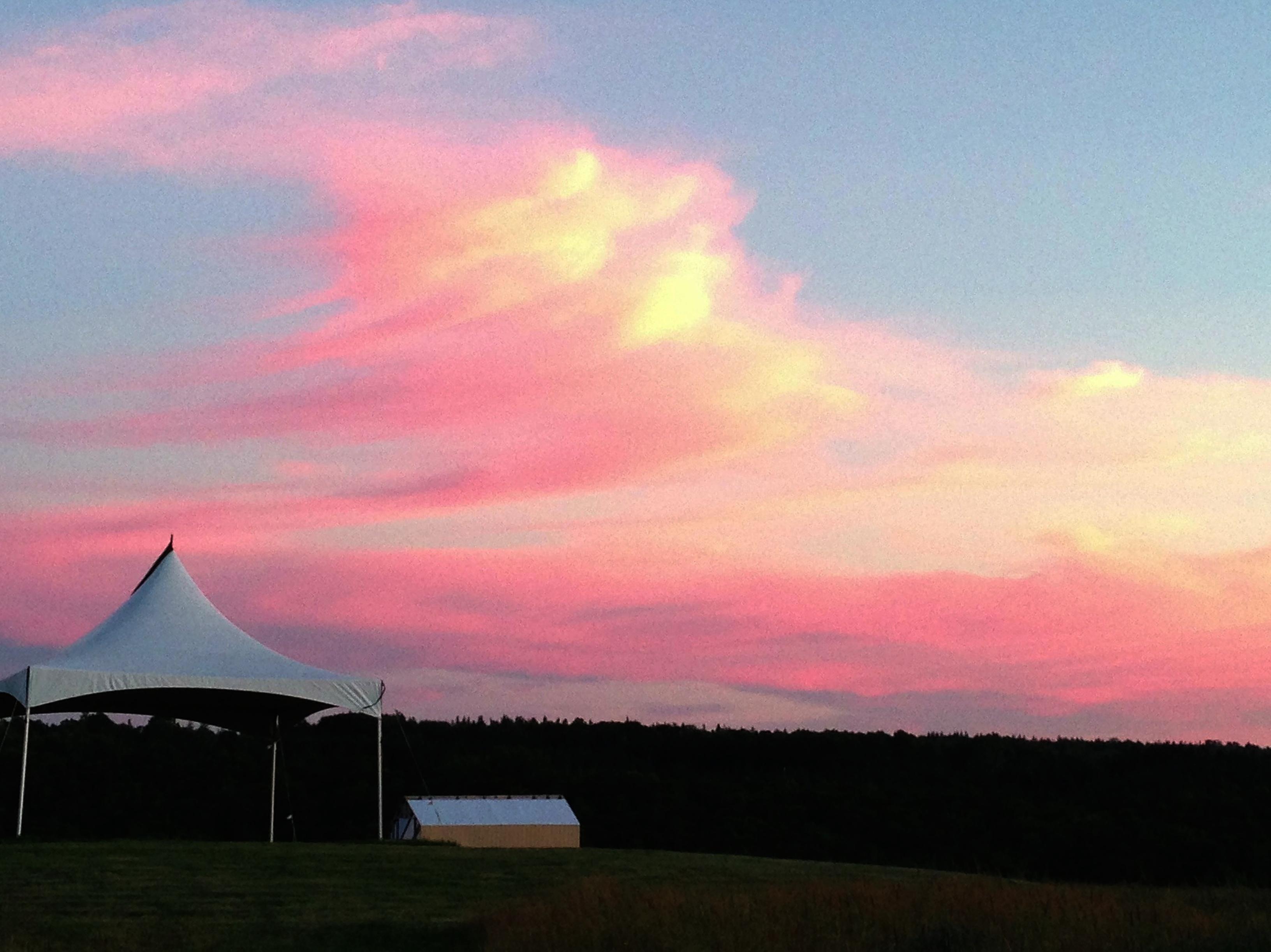 evening sky at Ross Creek