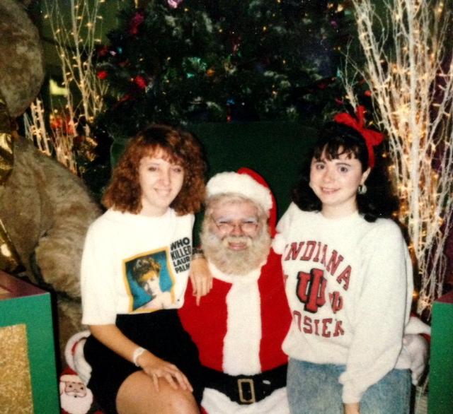 Marta, creepy Santa and me.